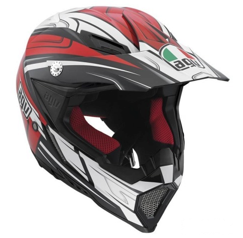 Шлем AGV AX-8 Evo Multi Factory Black/White/Red