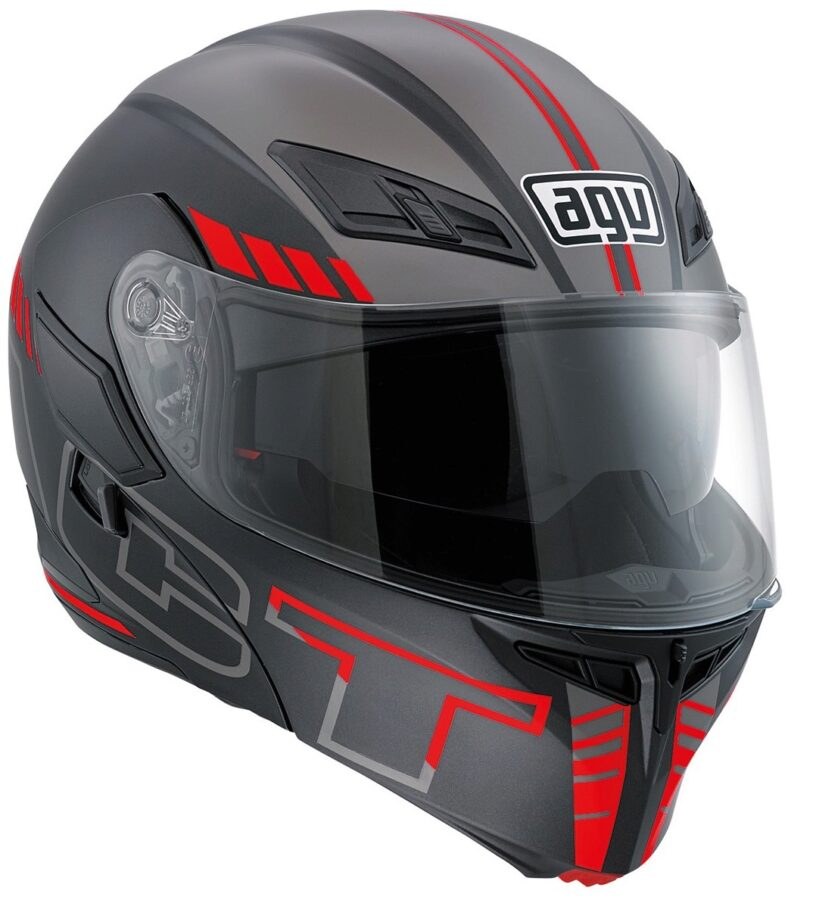 Шлем AGV Compact ST MULTI Seattle Matt Blk/Silver/Red