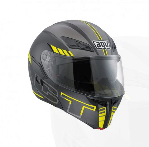 Шлем AGV Compact Multi Seattle - Matt Black/Silver/Yellow Fluo