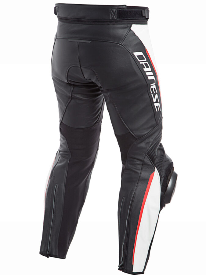 Брюки кожаные мужские Dainese Delta 3 Perf. Leather Pants Black/White/Red