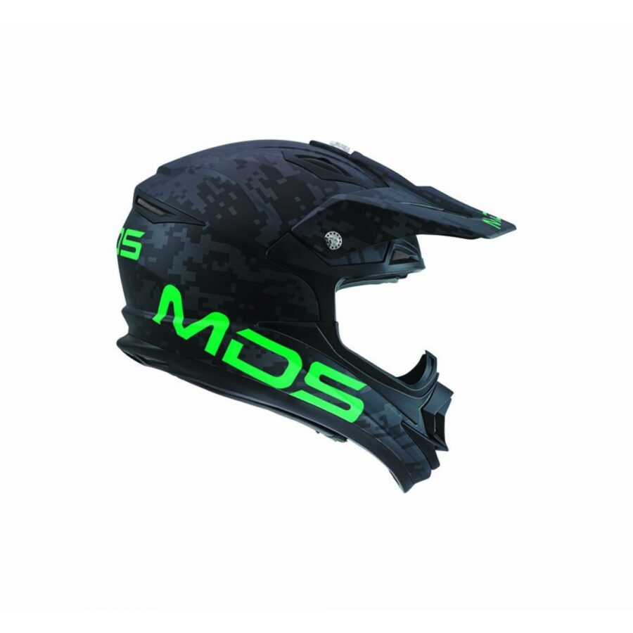 Шлем MDS ON/OFF Multi Camopix Matt Black/Green/Green