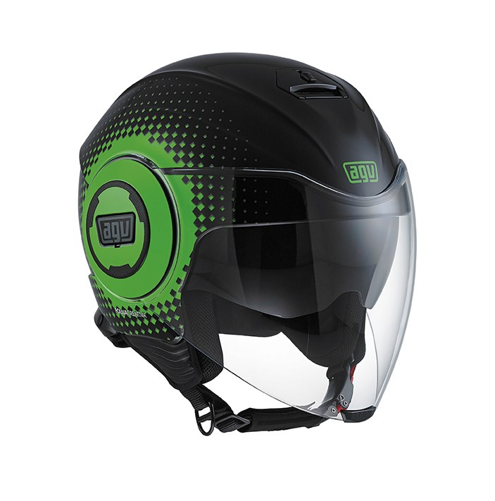 Шлем AGV Fluid Multi Pix - Black/Green