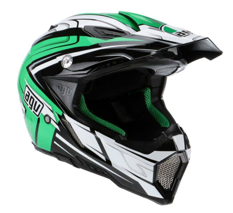Шлем AGV AX-8 Evo Multi Factory - Black/White/Green